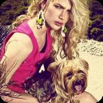 Аватар Блондинка с собачкой