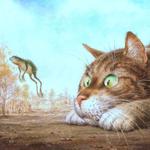 Аватар Кот наблюдает за лягушкой