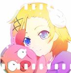 Аватар Kurashima Chiyuri /Тиюри Курасима, держащая свинью, аниме Accel World