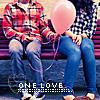 Аватар Парень с девушкой сидят на скамейке и держат в руках воздушный шарик (One love/Одна любовь)