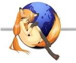 Аватар Логотип браузера Mozila Firefox в виде Девушки-лисицы