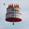 Аватар Воздушный шар в виде торта со свечками, на котором написано Happy Birthday / С днем рождения