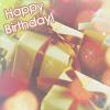 Аватар Подарки, упакованные в белые коробочки и обернутые золотистой лентой (Happy Birthday / С днем рождения)