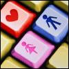 Аватар Клавиатура со значками мальчика, девочки и сердечка