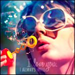 Аватар Девушка в очках пускает мыльные пузыри (I love you. I always will / Я люблю тебя. Всегда буду)