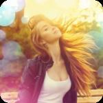 Аватар Девушка с развевающимися волосами среди бликов