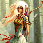 Аватар Красивая девушка эльф с охотничьими стрелами и луком за спиной
