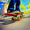 Аватар Парень едет на скейте