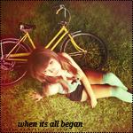 Аватар Девушка сидит на траве рядом с велосипедом (when it's all began)
