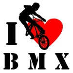 Аватар Силуэт парня на велосипеде (I love BMX / Я люблю БМИКС)