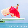 Аватар Девушка стоит на крыле самолета над морем (Walk with me / Пойдем со мной)