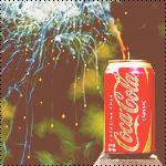 Аватар Банка Кока-Колы / Coca-Cola с фейерверком