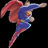 Аватар Супермен / Superman, персонаж мультфильма 'Лига справедливости / Justice League', летит, согнув колено и вытянув правую руку вперёд