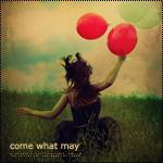 Аватар Девушка с воздушными шариками бежит в высокой траве (Come what may / Будь что будет)