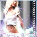 Аватар Девушка-блондинка среди цветных бликов