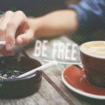 Аватар Парень курит за чашкой кофе (Be free / Будь свободным)