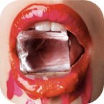 Аватар Девушка с измазанными ярким блеском губами держит в зубах кубик льда, работа фотографа Enrique Badulescu