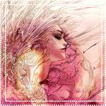 Аватар Девушка с развевающимися волосами
