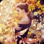 Аватар Девушка в парке среди осенних деревьев и бликов
