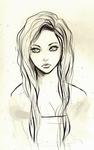 Аватар Нарисованная длинноволосая девушка