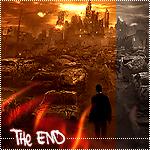 99px.ru аватар Мужчина стоящий среди обломков машин, смотрящий на разрушенный город (The End)