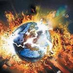 Аватар Планета Земля\ раскалывается на мелкие кусочки