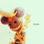 Аватар Монстр с милой улыбкой держит в руках золотой ключ и плачет, пока его гладят по голове ( tears / слезы )