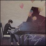 Аватар Парень играет на рояле из которого вылетают воздушные шарики (Play? / Игра?)