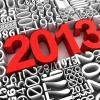 Аватар Цифры Нового 2013 года красного цвета на фоне цифр других годов