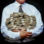 Аватар Мужчины держит в руках пачки денег