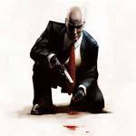 Аватар Мужчина в костюме с пистолетом встал на одно колено из игры Hitman: Blood Money / Киллер: Кровавые деньги
