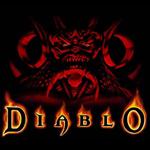 Аватар Название игры  Диабло / Diablo на фоне красного рогатого монстра