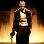 Аватар Мужчина в костюме с пистолетом из игры Hitman: Blood Money / Киллер: Кровавые деньги