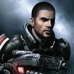Аватар Commander Shepard / Командор Шепард из игры Mass Effect / МассЭффект с оружием