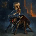 Аватар Скелет сидит на пауке, арт по игре Minecraft / Майнкрафт / Шахтёрское ремесло