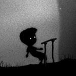 Аватар Силуэт мальчика играющего в игру Лимбо / Limbo