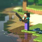 Аватар Персонаж игры Майнкрафт / Шахтёрское ремесло / Minecraft на рыбалке