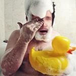 Аватар Голый мужчина с пеной на голове и желтой уткой, Дрейкфейс из игры  Uncharted 2: Among Thieves/ Неизведанное 2: Среди воров