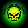 Аватар Тату череп на зеленом фоне