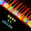Аватар Разноцветные клавиши с надписью 'make it shine / зажигай'