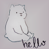 Аватар Белый медвежонок (Hello / Привет)