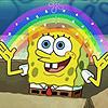 Аватар SpongeBob / Губка Боб с радугой, из мультика Губка Боб Квадратные Штаны / SpongeBob SquarePants