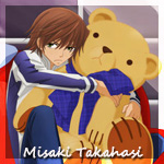 Аватар Недовольный Мисаки Такахаси / Misaki Takahasi обнимает плюшевого медвежонка, аниме 'Чистая романтика / Junjou Romantica' (Junjou Romantica)