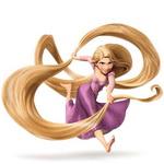Аватар Rapunzel / Рапунцель в фиолетовом платье бежит из мультфильма Рапунцель: Запутанная история / Tangled