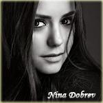 Аватар Нина Добрев загадочно улыбается (Nina Dobrev)