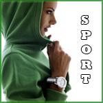 Аватар Алессандра Амброcио / Alessandra Ambrosio в зеленом балахоне с капюшоном и в наручных часах (SPORT / СПОРТ)