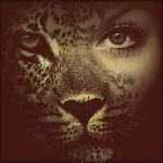 Аватар Девушка с мордой леопарда вместо половины лица