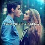 Аватар Парень выдыхает дым девушке в лицо (Good girls love bad boys / Хорошие девушки любят плохих мальчиков)