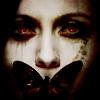 Аватар Девушка с бабочкой на губах