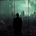 Аватар Мужчина смотрит на разрушенный город через окно